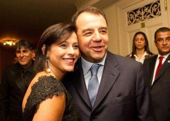 Sérgio Cabral e Adiana Ancelmo