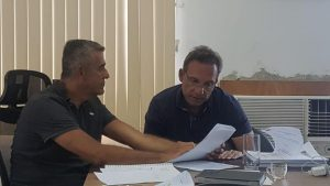 Secretario de Educação de Macaé-RJ Guto Garcia e o prefeito Dr. Aluízio