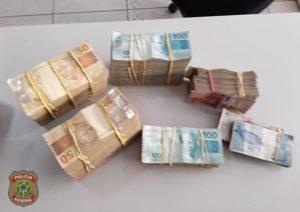 Dinheiro apreendido em posto na Operação Titereiro