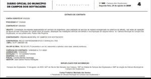 Obra de R$ 300 mil na Câmara de Campos