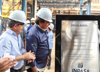 Bolsonaro em visita a Usina de etanol fabricado do milho