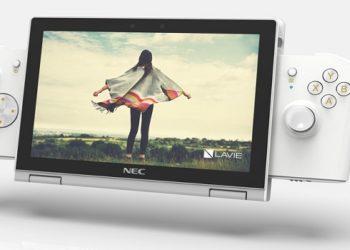 Lavie Mini pode ser conectado a controle para jogar em qualquer lugar — Foto: Divulgação/NEC