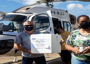 Chegada de doses da Vacina contra coronavírus, CoronaVac, no Aeroporto de Macaé/RJ. Data: 11/02/2021. Foto: Rui Porto Filho