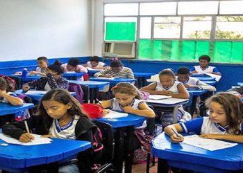Alunos participam da Prova Macaé no Colégio Letícia Pessanha ( Foto: Rui Porto Filho - Divulgação)